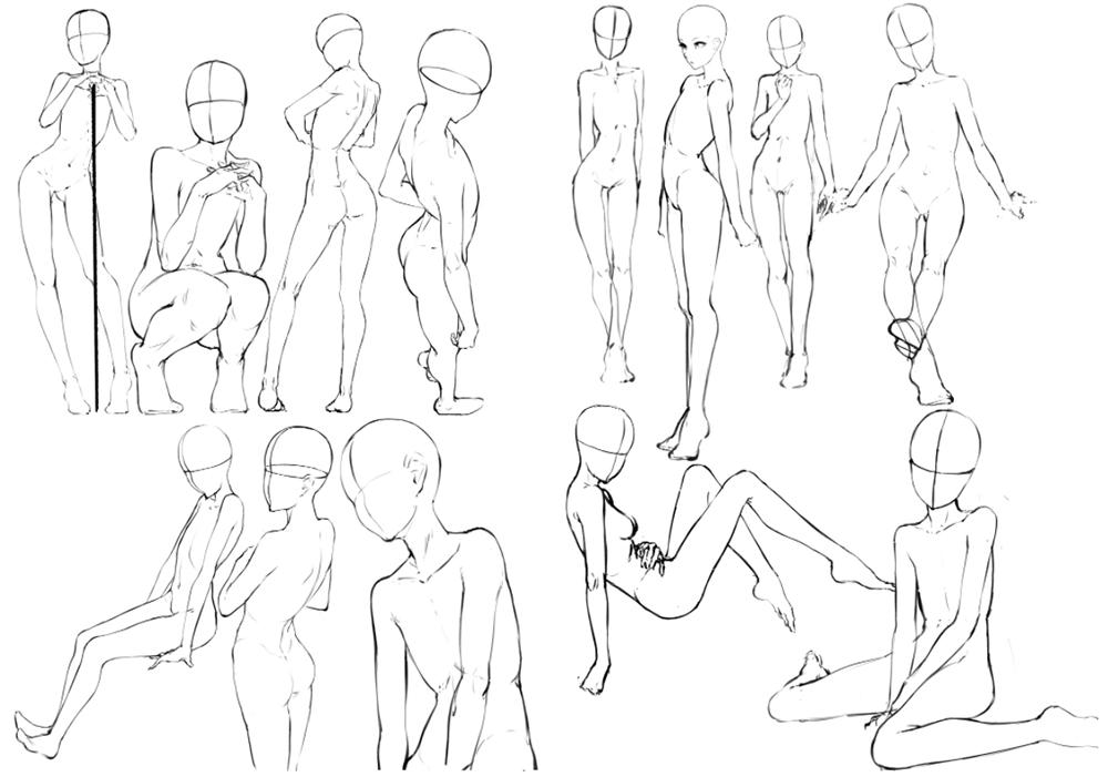 A part of sousou's original poses