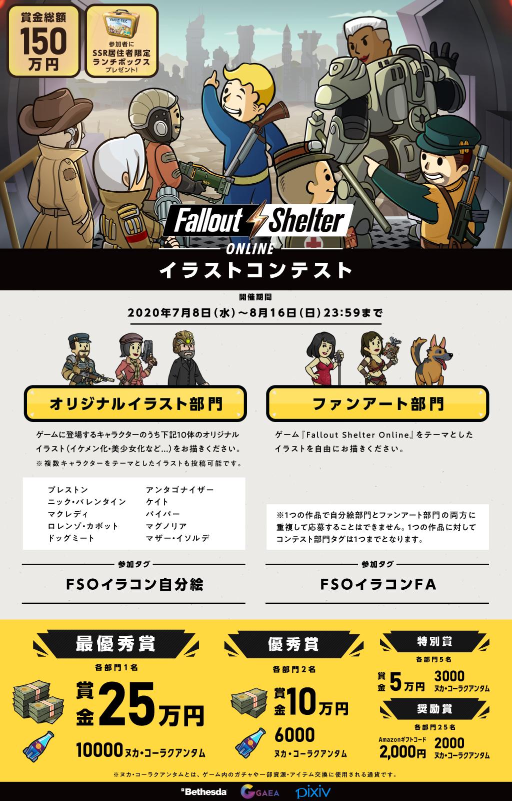 「Fallout Shelter Online Illustration Contest」begins title=